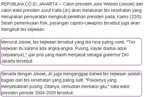 Analisa Komentar Tes Kejiwaan Jokowi oleh Psikolog @estiningsihdwi