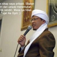 Subhanallah, Ternyata Aa' Gym Dukung Jokowi